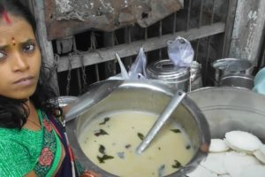 Hard Working Indian Husband Wife - 4 Piece Idly @ 10 rs Only - Cheapest Street Food