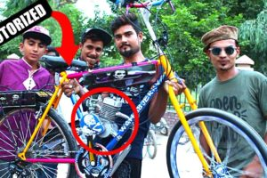 People are Awesome || Motorized bicycle || Assembled by wahab jerry || Bicycle ONE WHEELING