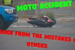 Scary moto accident | Learn from the mistakes of others and never repeat them