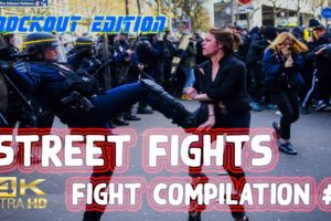 Street Fight Compilation - Street Brawls and Hood Fight Knockouts Edition