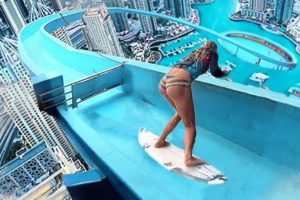 she falls off tallest waterslide, then this...