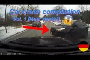 Car crash compilation Volume 1 (Near death!)