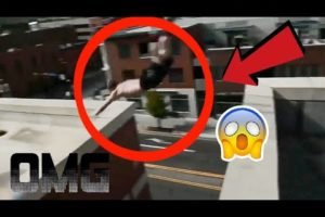 Insane POV Near Death Parkour - Stuntman Jumping Off Buildings  - Crazy Video Compilation