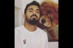 KL Rahul Playing with Dog