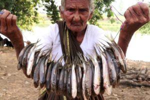 My Grandma Cooking Fish fry   Fish Fry Recipe   105 Mastanamma   Country foods