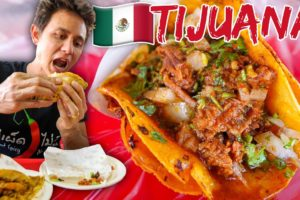 Mexican Street Food in Tijuana 🇲🇽 INSANE TACOS TOUR IN MEXICO 🌮(Part 2)