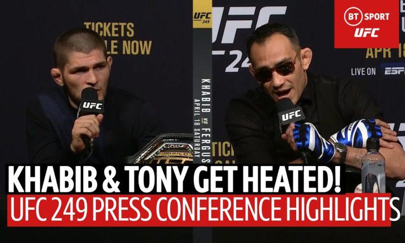 """I will eat you in street fight!"" Khabib and Tony Ferguson's heated #UFC249 press conference!"