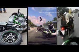 Kawasaki Ninja 250 / 300 / H2 / Crashed / Near Death - Compilation