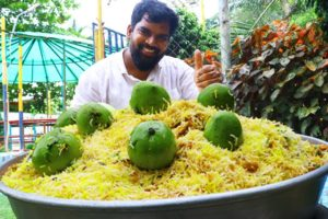Mango Biryani |Veg biryani | Yummy KACHA AAM BIRYANI FOR KIDS | First time in Youtube | Nawabs