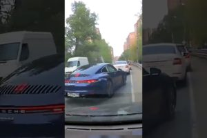 Porsche driver stops naughty mercedes (Idiots in cars) #shorts