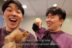 Speaking KOREAN ONLY Challenge (Cringe alert) [Ft. cutest puppies🐾]