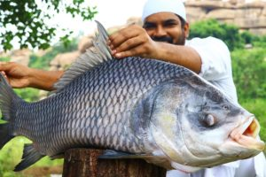 Amazing! 20 Kg Katla Fish Cooking Biggest Fish | Biggest fish gravy curry recipe by nawabs kitchen