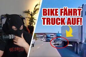 BIKE fährt TRUCK auf! | Near Death Compilation | Kuhlewu reagiert
