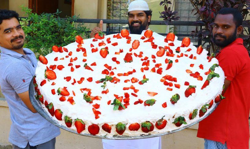 Cake Recipe | Big Size Strawberry Cake Recipe | New Year Cake | Biggest Cake for Kids | Nawabs