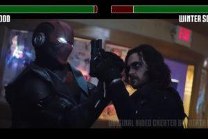 Red Hood vs. Winter Soldier fight WITH HEALTHBARS | HD | Death Battle