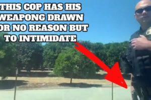 Cop Pulls Gun For No Reason | Cops Intimidation Fails