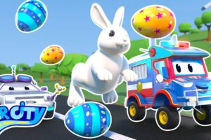 EASTER: Super Police Truck rescues the BUNNY! | SuperTruck - Rescue | Trucks Videos for Children
