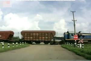 EPIC Train Crash Compilation, Close Calls, Near Misses and Accidents.
