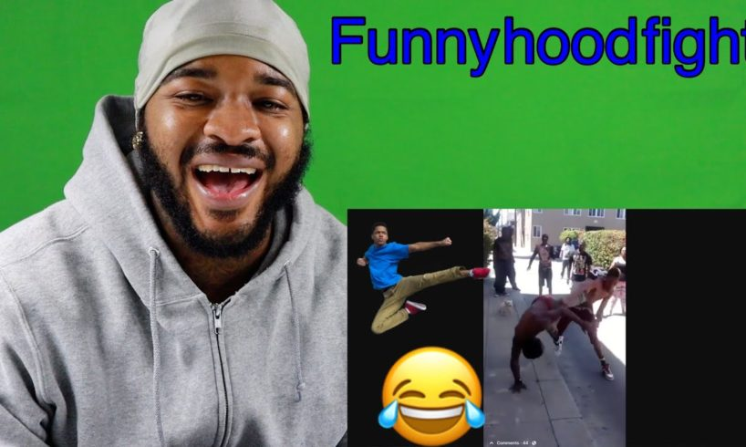 Funny hood fight reaction