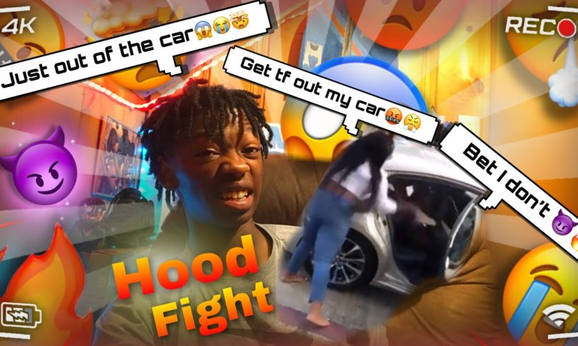 GIRL HOOD FIGHT (she wouldn't get out)