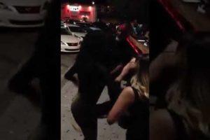 Hood Fight: Female Bar Fight Outside