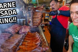 Mexican Street Food - CARNE ASADA KING!! 🥩 Mexican Steak, Ribs, and Quesadillas!!