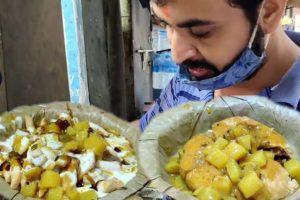Mouth Watering Chaat in Kolkata Street | Khasta Kachori Chaat 22 rs & Namkeen Chaat 14 rs