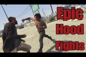 Epic Hood Fights And Street Knockouts In The Hood Compilation| GTA 5 Ep.33