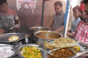 It's a Breakfast Time in Amritsar Street - 2 Puri with Chana & Aloo Curry @ 20 rs Only