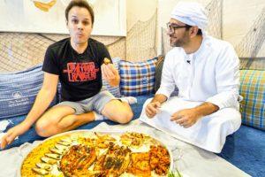 LEVEL 9999 EMIRATI SEAFOOD PLATTER in Dubai w/ @Peyman Al Awadhi !!! MUST TRY Food in Dubai!!!