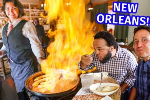 New Orleans - HUGE FOOD TOUR!! Green Oysters, Muffuletta, Jambalaya, + Po'boys!!