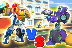 ROBOT CAR vs TRAIN THIEF | RoboFuse - Superhero Rescue | Trucks Videos for Children