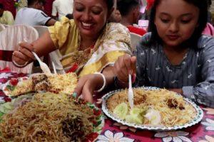 Wedding Party at Dada Boudi Hotel Barrackpore | Biye Bari Menu Mutton Biryani