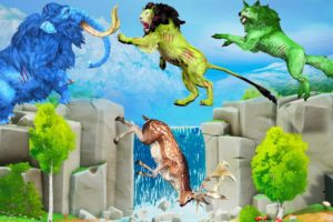 Zombie Lion vs Zombie Wolf Fight Lion Attack Deer Saved By Zombie Mammoth Animal Fights Videos New